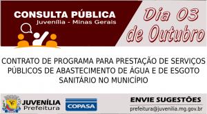 Consulta pública Contrato da Copasa